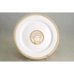 Набор из 6 обеденных тарелок 25 см «Versace - gold»