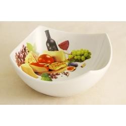 Салатник «Сыр, вино и виноград» 21 см