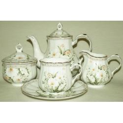 Чайный сервиз «Летний сад» на 6 персон 15 предметов