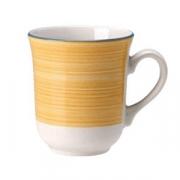 Кружка «Рио Еллоу», фарфор, 285мл, белый,желт.