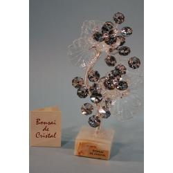 Бонсай с хризантемами серебряный 19 см