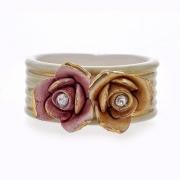 Кольцо для салфеток 7x3x5 см. «Цветы»