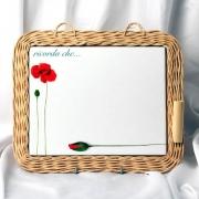 Настенная доска для записей в плетен. рамке 29,5см «Россана»