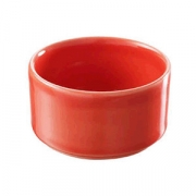 Форма для запек., фарфор, 60мл, D=65,H=35мм, красный