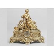 Часы «Дама с арфой» гиган. золотистый 62х60 см.