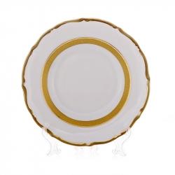 Набор тарелок «Лента золотая матовая 2» 24 см. 6 шт.