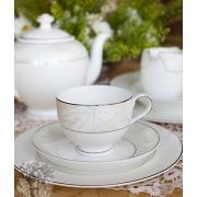 Набор 6 тарелок суповых 23см «Белый лист»