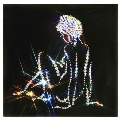 Женский силуэт(Нежность, 25х25 см, 362 кристалла