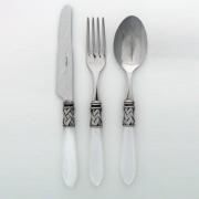 Столовые приборы Casa Bugatti Aladdin  слоновая кость (серебро)