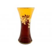 Ваза 30 см амбер «золотой цветок»