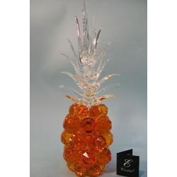 Ананас, цвет топаз, прозрачный лист d 40 11х37 см