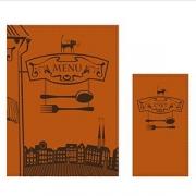 Папка-меню на винтах с тиснением «Город»