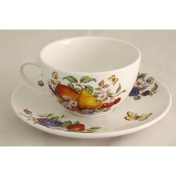 Чашка с блюдцем «Фрукты и ягоды» 0,25 л