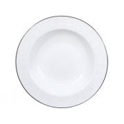 Тарелка суповая, 23 см, Жемчужина-платинум