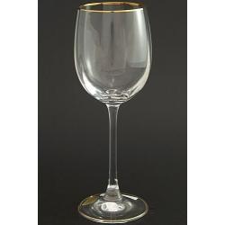 Рюмка для вина 260 мл «Эсприт» оптика декор золотая кайма по краю рюмки и по краю дна
