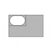 Гастроемкость (1/4), пластик, H=15,L=26.5,B=16см