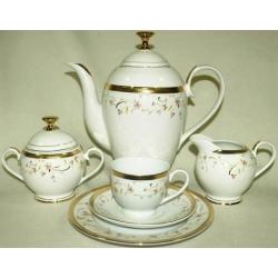 Сервиз чайный «Цветочная поляна» на 12 персон 40 предметов