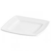 Тарелка квадратная «Мини Пати», фарфор, H=2,L=13,B=13см, белый