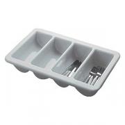Подставка для столов.приборов, пластик, L=53,B=32.5см, белый