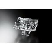 Блюдо на ножке 29 см «Ангелина» прозрачная