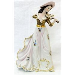 Статуэтка «Девушка со скрипкой» (цветная)