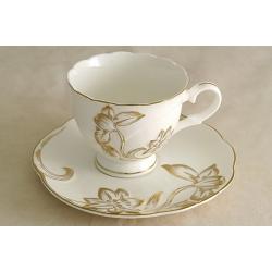 Чашка с блюдцем «Золотой тюльпан» 0,25 л