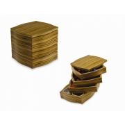 Ящик для чая и кофе Legnoart 18,5 x 18,5 x 18см (зебрано)