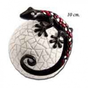 Статуэтка 10 см Ящерица на белом шаре
