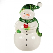 Банка для печенья 30см в виде снеговика «Снеговик»