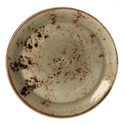 Тарелка мелкая «Крафт»; фарфор; D=28см; зелен.