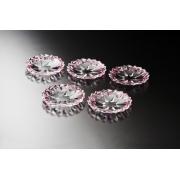 Набор тарелок 18 см 5 шт цвет: розовый/фиолет «Монтана» колор