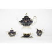 Сервиз чайный на 6перс. 21пред..подарочный «Ювел Синий»