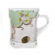 Набор кружек для чая 6 шт. «Лепка зеленая»