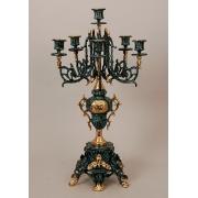 Пара канделябров 6 свечей синий 56х30 см.