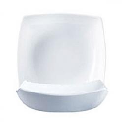 Тарелка глуб. «Квадрато» белая 20-20см