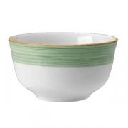 Сахарница «Рио Грин»; фарфор; 230мл; белый,зелен.
