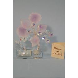 Бонсай с листочками лиловый, 14 см.