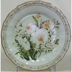 Набор из 6 обеденных тарелок «Летний сад» 25 см.