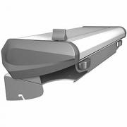 Держатель для пищевой пленки 450 «САБР», сталь нерж.,пластик, H=12,L=60,B=25см, металлич.,серый