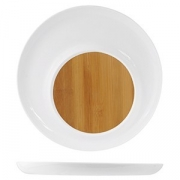 Блюдо для стейка/сыра, бамбук,фарфор, H=25,L=326,B=326мм