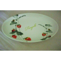 Овальное блюдо «Клубника» 27х40 см