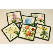 Набор из 6 подставок под стаканы «Цветы»