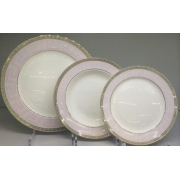 Набор тарелок «Розовая лесенка» на 6 персон 18 предметов