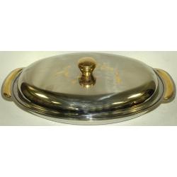 Овальное блюдо для горячего с крышкой дл. 36 см «Фьокко»
