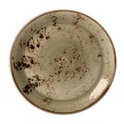 Тарелка мелкая «Крафт»; фарфор; D=23см; зелен.