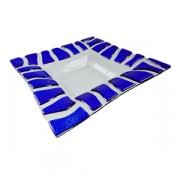 Тарелка глубокая «Сафари», стекло, H=35,L=290,B=290мм, прозр.,голуб.