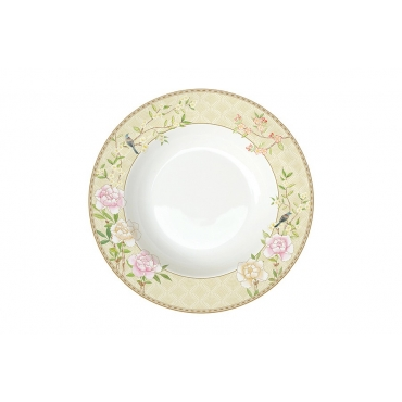Тарелка суповая Дворцовый парк (бежевая) без инд.упаковки