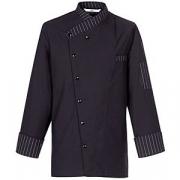 Куртка поварская р.S на кнопках, полиэстер,хлопок, черный,белый