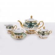 Сервиз чайный на 6 перс. 15 пред. «Роза Зеленая»