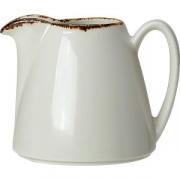 Молочник «Браун дэппл» фарфор; 285мл; белый, коричнев.